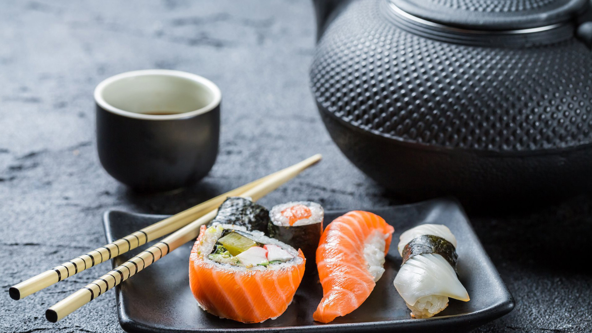 The enjoyment of eating sushi is tied to, among other things, the possibility of tasting various kinds of fish, the constant change of flavours, admiration and tasting of varied forms and types of this dish.